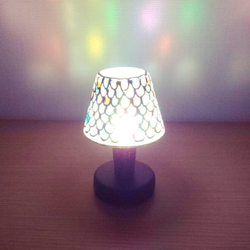 100均ライトDIYランプガラスペイント