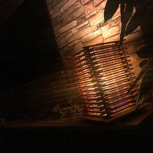 100均ライトDIYランプ和風間接照明