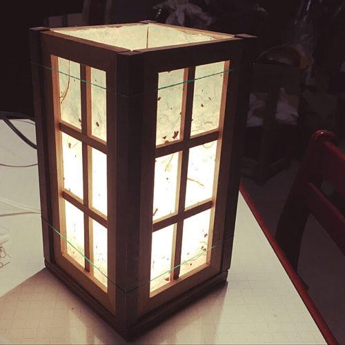 100均ライトDIYランプ行灯