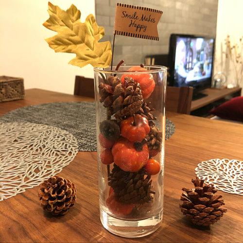 100均ハロウィンおしゃれな飾り付けグラス
