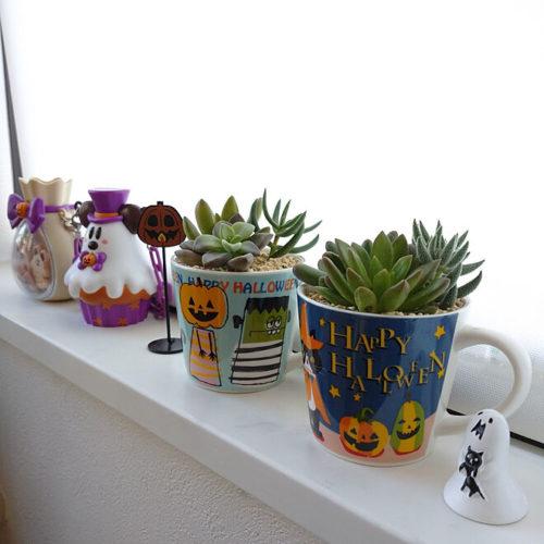 100均ハロウィンおしゃれな飾り付けマグカップ