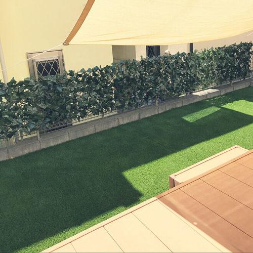 布で安くDIYするアイデアグリーンフェンス