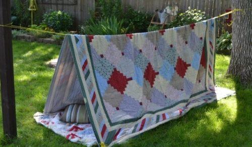 布で安くDIYするアイデアテント