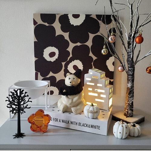 マリメッコ好きのインテリア部屋壁を飾るファブリックパネル03