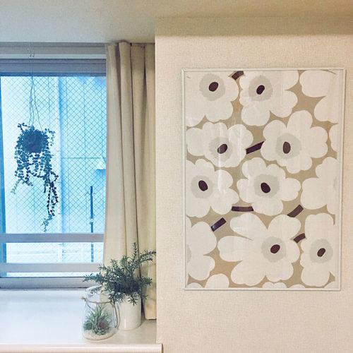 マリメッコ好きのインテリア部屋壁を飾るフレーム