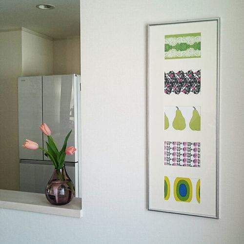 マリメッコ好きのインテリア部屋壁を飾るポストカード