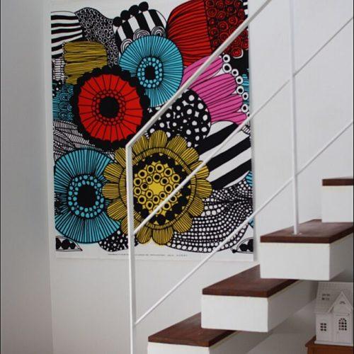 マリメッコ好きのインテリア部屋壁を飾る布02