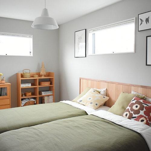 マリメッコ好きのインテリア部屋ベッドを飾るピローケース
