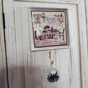 ムーミン好きのおしゃれなインテリア壁ハンドタオル