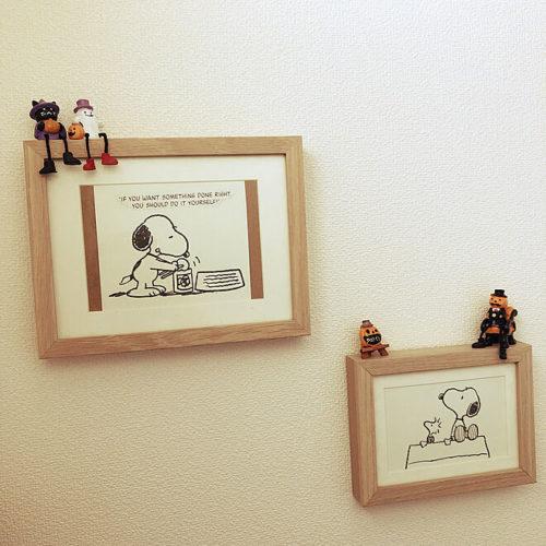 スヌーピー好きのおしゃれなインテリア部屋壁写真立て