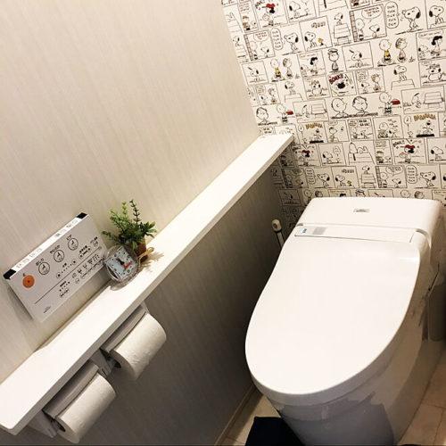 スヌーピー好きのおしゃれなインテリア部屋壁紙