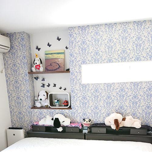 スヌーピー好きのおしゃれなインテリア部屋ベッドぬいぐるみ02