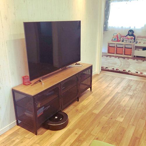 ルンバが走れるアイデア 脚付き家具 TVボード