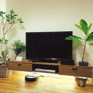 ルンバが走れるアイデア 脚付き家具 TVボードフロート