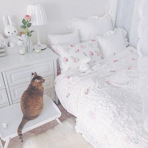 ベッドをミッフィーでコーディネートした例は?