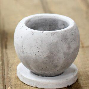 セメント丸陶器鉢・S